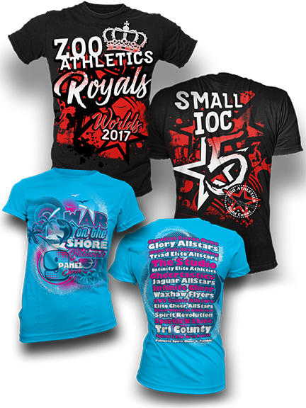 Cheerleading Shirts & Custom Apparel